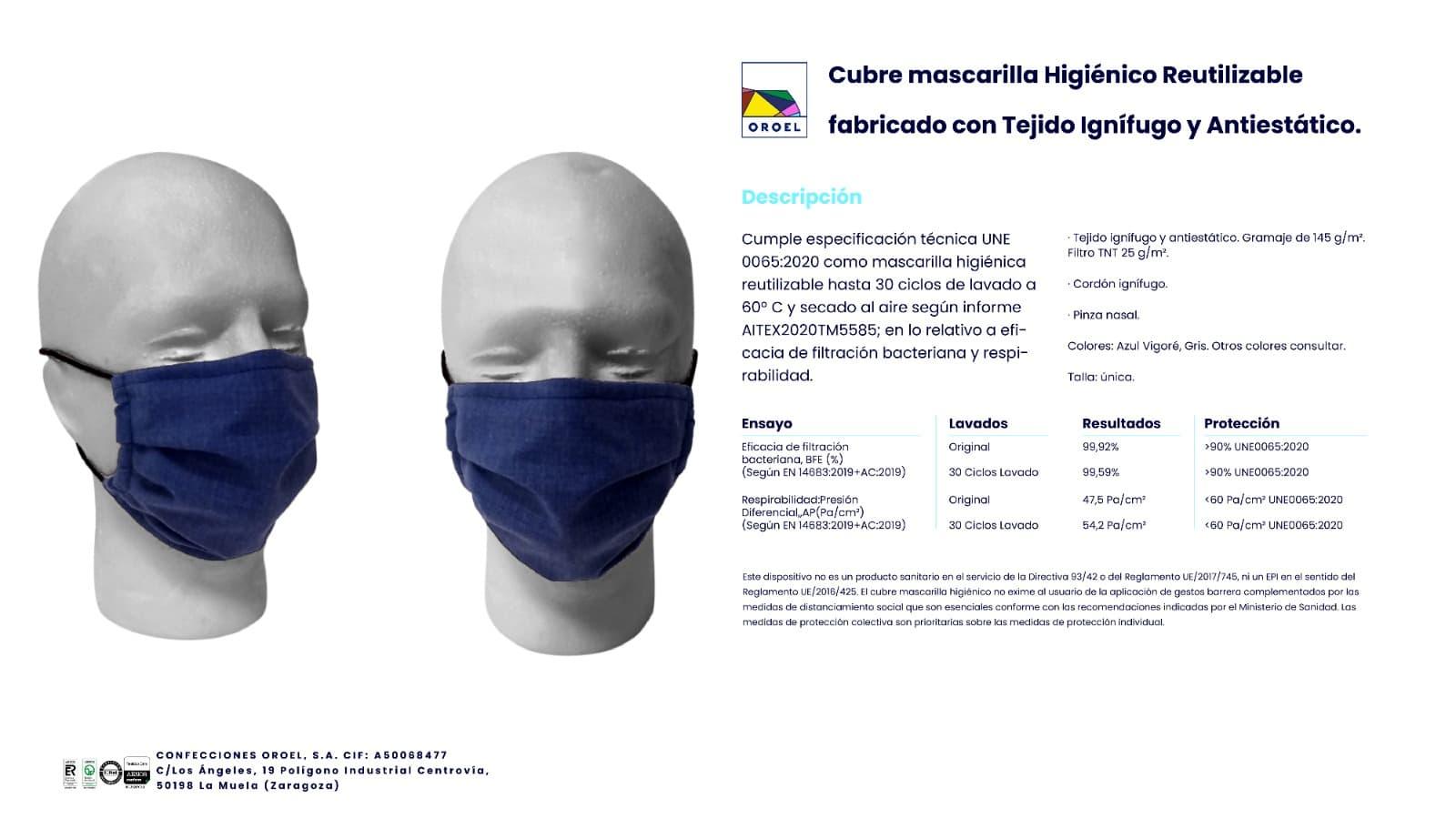 Cubre mascarillas higienico reutilizable
