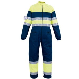 Buzo cerrado con cremallera en ropa de protección de alta visibilidad