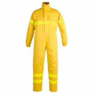 Ropa de protección, buzo multibolsillos con cremallera para calor, llama y bombero forestal