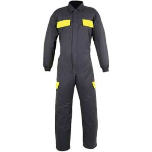 Buzo con bolsillos amarillos en ropa de protección contra riesgos electrostático