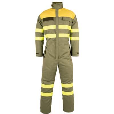 Buzo cerrado ajustable en ropa de trabajo para calor, llama y bombero forestal
