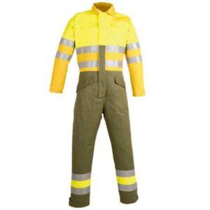 Buzo cerrado reflectante para ropa de trabajo en calor, llama o bombero forestal