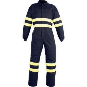 Buzo cerrado con velcro en ropa de protección para protección contra atrapamiento