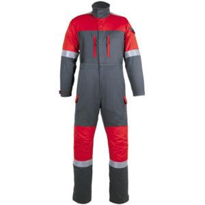 Ropa de protección de calor, llama y arco eléctrico en camisa con retrorreflectante en buzo multiusos cerrado