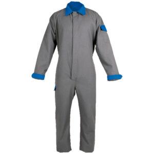 Ropa de protección de calor, llama y arco eléctrico impermeable en camisa con retrorreflectante en buzo de dos capas