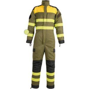Buzo multibolsillos con reflectante discontinuo en ropa de trabajo para calor, llama y bombero forestal