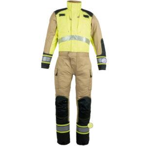 Buzo reforzado amarillo para rescate técnico en ropa de trabajo
