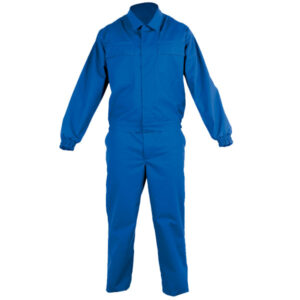 Jacket closed with snaps in chemical protective clothing