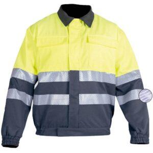 Cazadora cerrada en ropa de protección contra riesgos electroestáticos