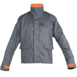 Ropa de protección de calor, llama y arco eléctrico en chaqueta cerrada