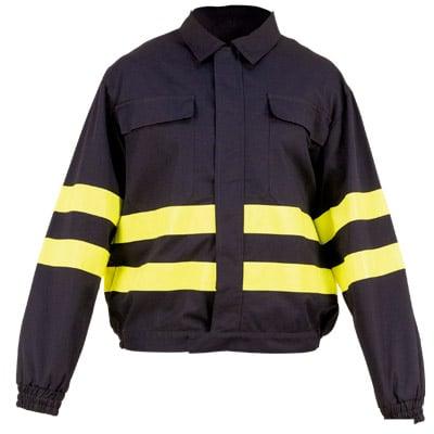 Cazadora cerrada negra en ropa de protección contra riesgo electrostático