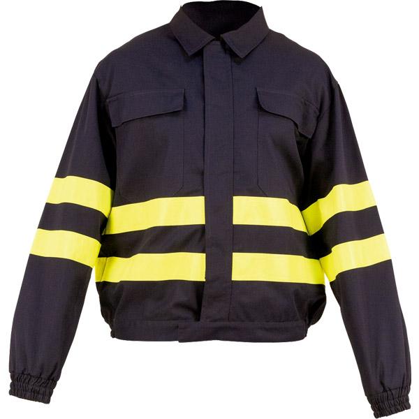 Cazadora cerrada con velcro en ropa de protección para ropa contra atrapamiento