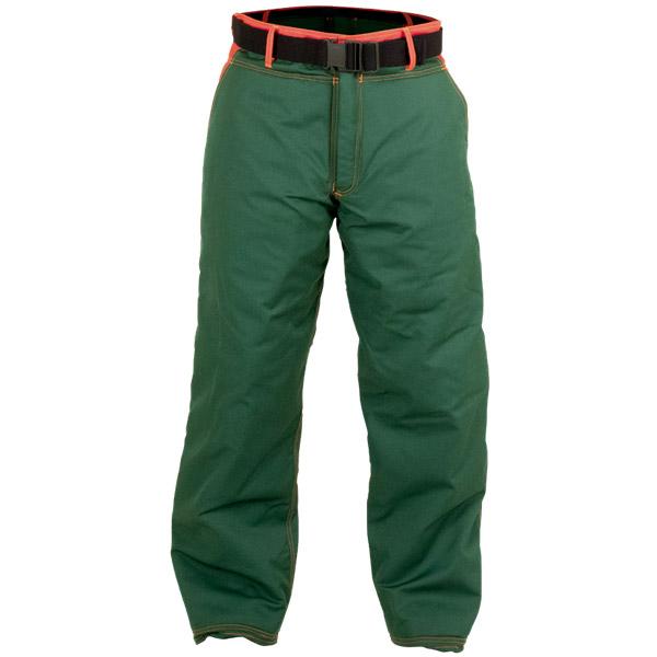 Pantalón verde anti-corte en ropa de trabajo
