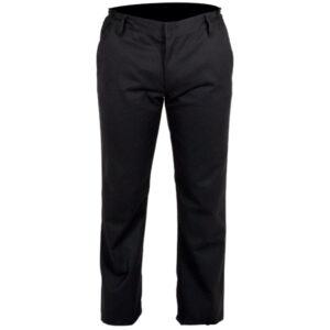 Pantalón cerrado negro en ropa de trabajo