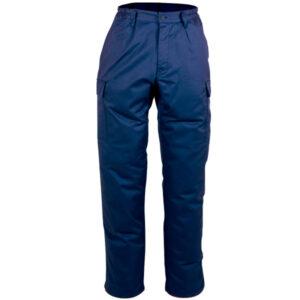 Pantalón cerrado azul oscuro en ropa de protección para calor y llama y arco eléctrico