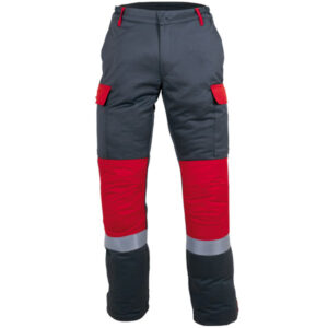 Pantalon multibolsillos con rodillas conformadas en ropa de proteccion calor y llama y arco electrostatico