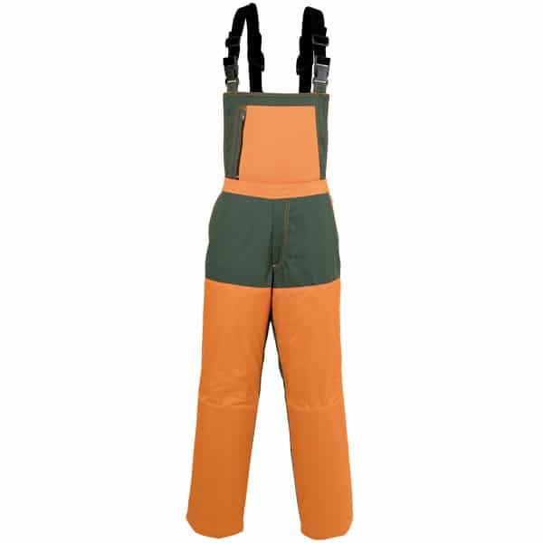 Pantalón tipo peto con tirantes para desbroce en ropa de trabajo