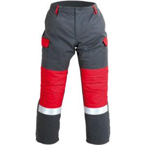 Pantalón impermeable econ aberturas laterales y rodillas conformadas en ropa de trabajo