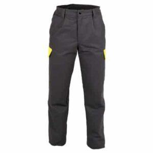 Pantalon multibolsillos conc remallera y boton negro en ropa de proteccion contra riesgos electrostaticos