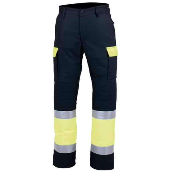 Pantalón multibolsillos reforzados en ropa de protección