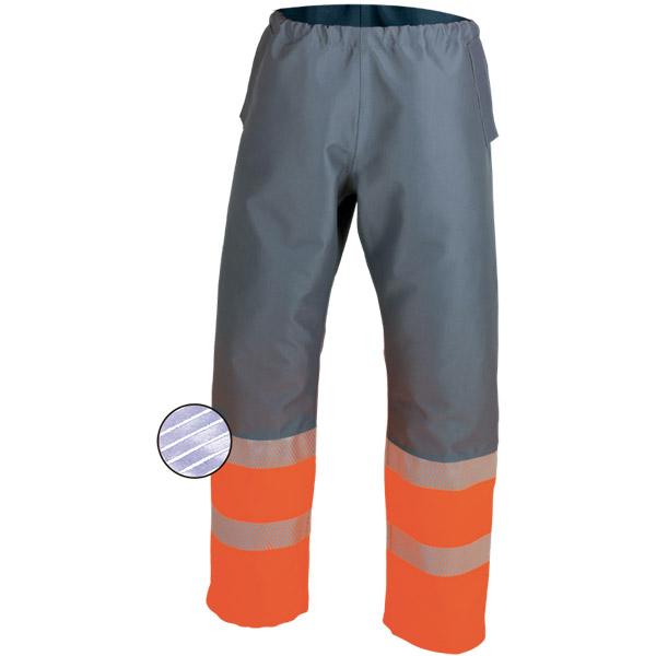 Cubrepantalon impermeable con aberturas laterales en ropa de proteccion para calor y llama y arco electrico