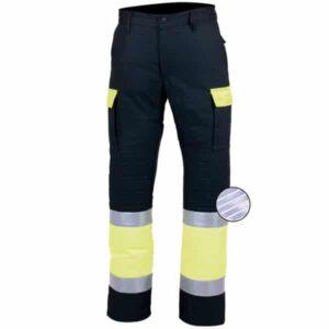Pantalón multibolsillos reflectantes