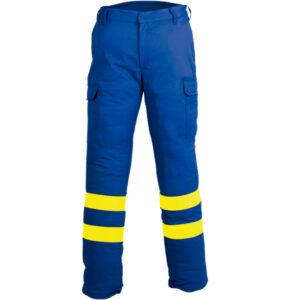 Pantalon multibolsillos ajustable en ropa de protección para calor y llama y arco electrico
