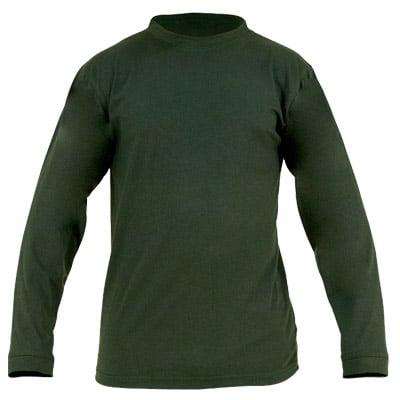 Camiseta verde de manga larga en ropa laboral para calor, llama y bombero fosrestal