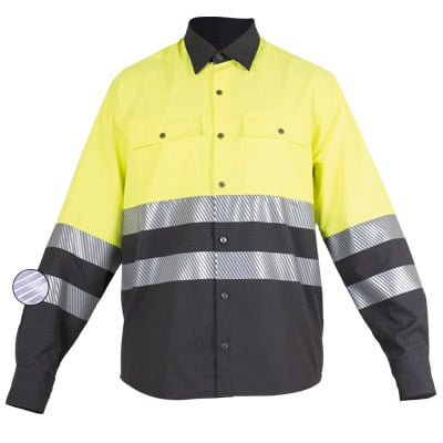 Camisa cerrada en ropa de protección contra riesgos eléctricos