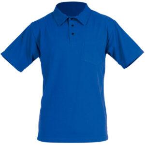 Polo de manga corta azul en ropa de protección para calor y llama y riesgo electrostático