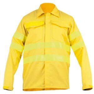 Camisa cerrada con botones para ropa de protección en bombero forestal