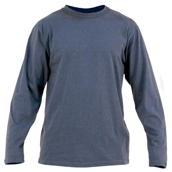 Camisa con cuello redondo para ropa de protección en calor, llama y arco eléctrico