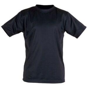 Camiseta negra en ropa de protección contra riesgos electroestáticos