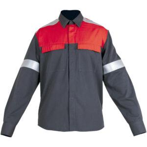 Ropa de protección de calor, llama y arco eléctrico impermeable en camisa con retrorreflectante en camisa con retrorreflectante