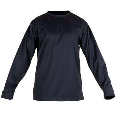 Camiseta negra con manga larga en ropa de protección contra riesgos electrostáticos