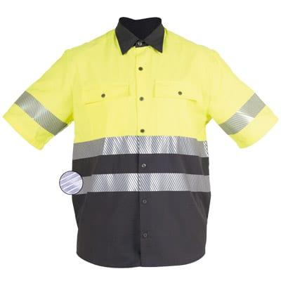 Camisa cerrada en ropa de protección contra riesgos electroestáticos