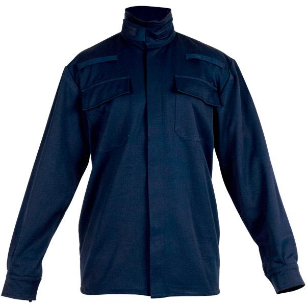 Ropa de trabajo con camisola cerrada en calor, llama y gran salpicadura