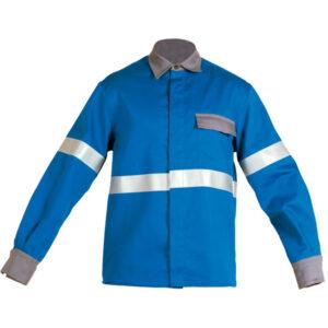 Ropa de protección de calor, llama y arco eléctrico en camisa cerrada retoreflectante
