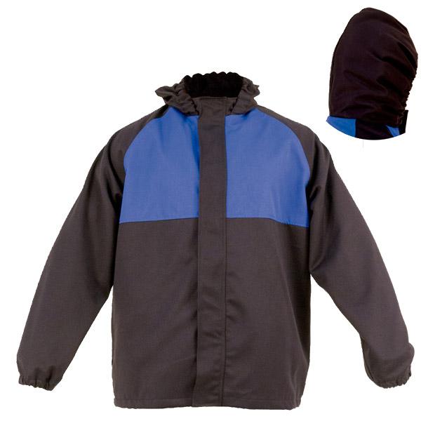 Chaquetón de doble capa cerrado en ropa de protección en calor y llama y arco eléctrico