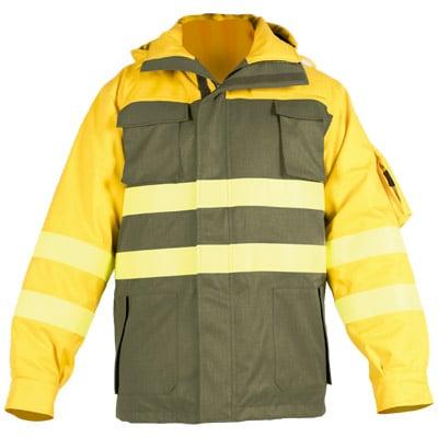 Chaqueton impermeable y acolchado en ropa de proteccion para calor y llama y bombero forestal