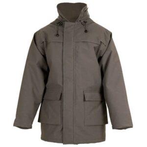 Chaqueton acolchado e impermeable marron en ropa de protección contra riesgos electrostáticos