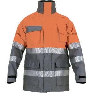 Chaqueton acolchado e impermeable con capucha desmontable en ropa de protección para calor y llama y arco electrico