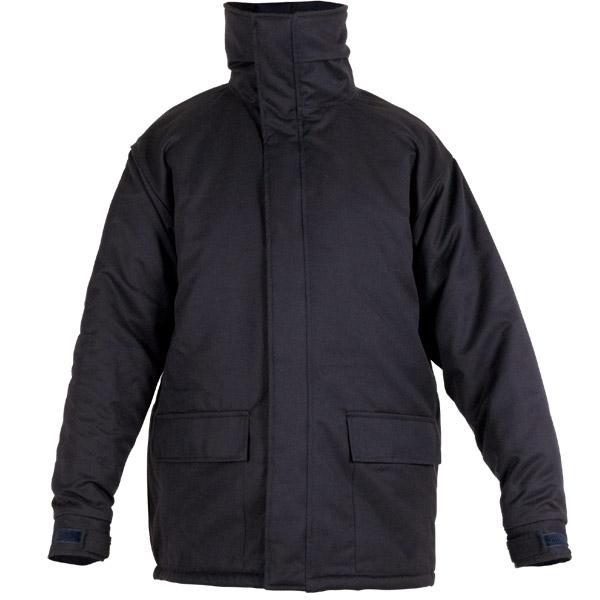 Chaqueton acolchado negro en ropa de trabajo