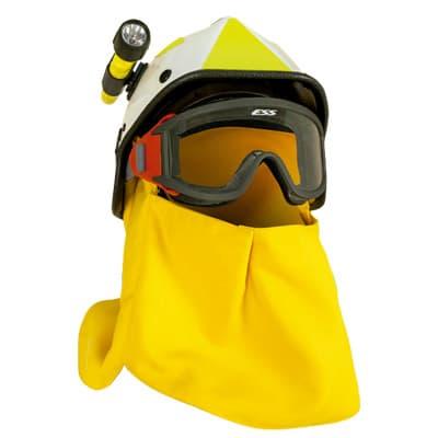 accesorios de protección laboral Cubre nucas acoplable a casco mediante ojales en ropa de proteccion de calor y llama y bombero forestal