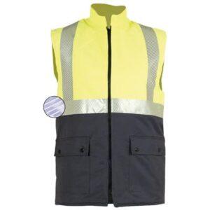 Chaleco acolchado en ropa de protección contra riesgos electroestáticos