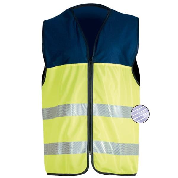 Chaleco reflectante discontinuo con cremallera en ropa de alta visibilidad en ropa de protección