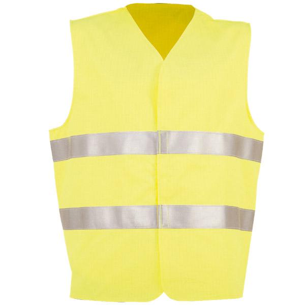 Chaleco de velcro reflectante en ropa de trabajo para calor y llama y baja visibilidad