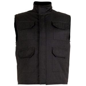 Chaleco acolchado con velcro en ropa de protección para calor y llama y riesgo electrostático
