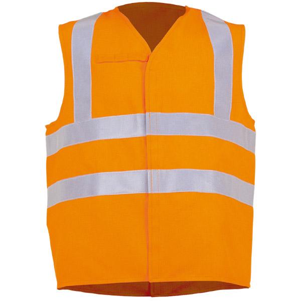 Chaleco cerrado naranja en ropa de protección para ca