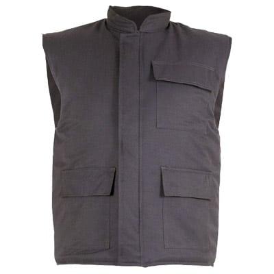 Chaleco acolchado con cremallera en ropa de protección contra riesgos electrostaticos
